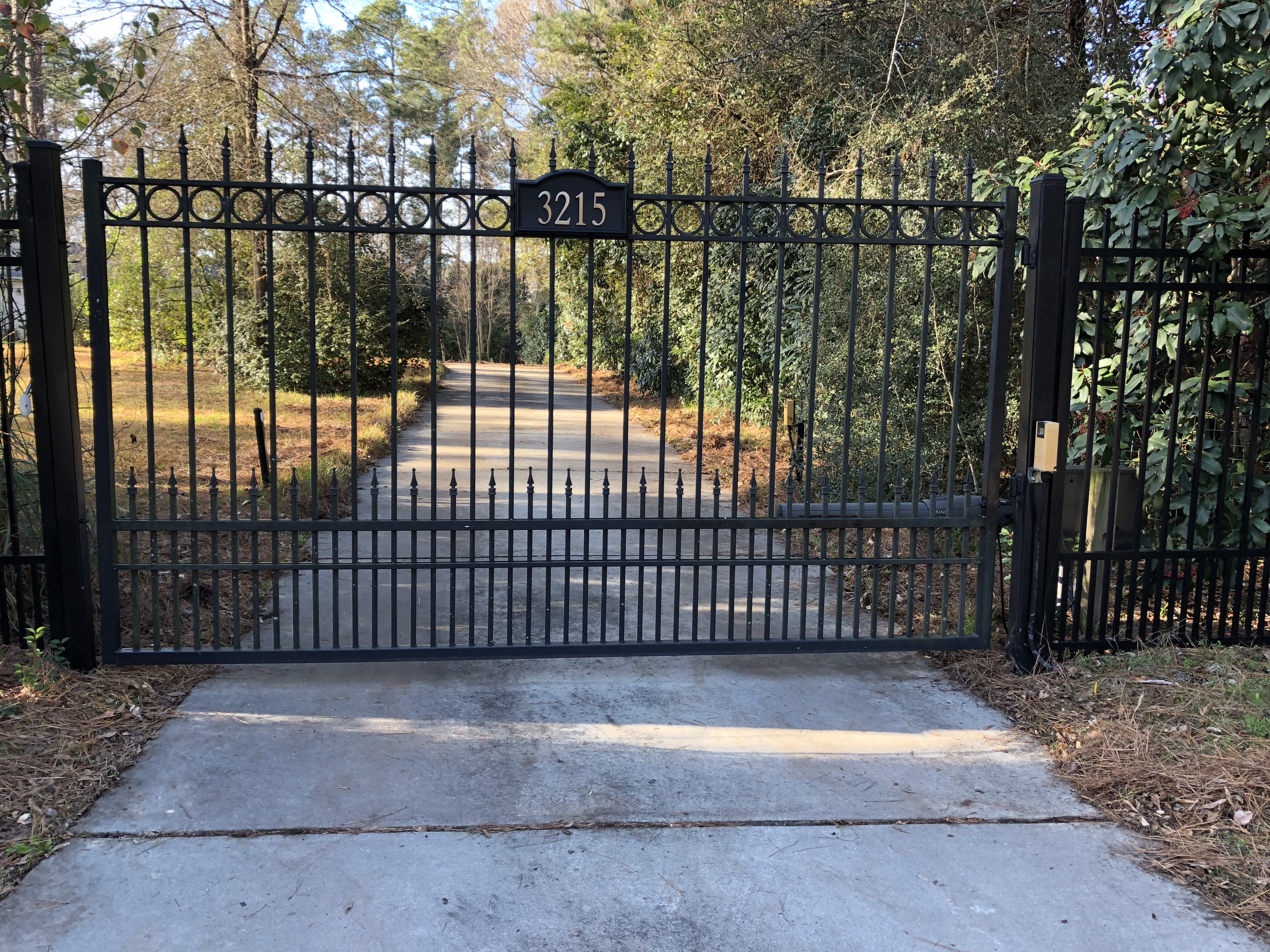 Private Gated Entrance